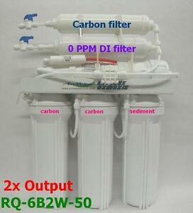 Clever 0 Ppm Reverse Osmosis 2 Output Rodi Waterfilter 6b2w50 Pet Supplies Fish & Aquariums