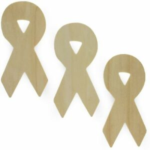 Awareness Ribbon Laser Cut Out Unfinished Wood Shapes Craft Supply BDG3