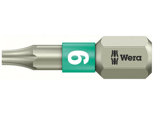 Wera 3867//1 TS Torx Torsion Stainless Steel Screwdriver Bit Various Sizes
