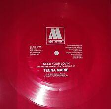 Teena Marie I Need Your Lovin' Red Flexi Edit Vinyl Promo 33 2013 Release