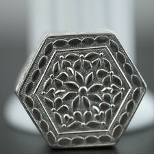 Antique solid silver pill / snuff box Islamic style great nice sterling gift