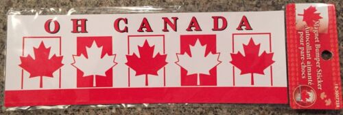 Car Fridge MAGNET Oh Canada Maple Leaf bumper sticker 9x3 inches New and sealed
