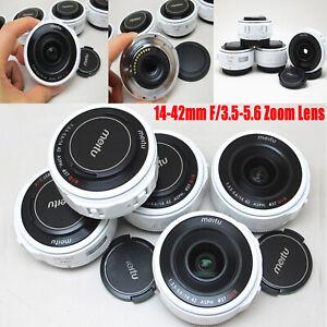 Meitu-14-42mm-f-3-5-5-6-Camera-Zoom-Linse-fuer-Panasonic-Olympus-Micro-4-3-Spiegelreflexkamera