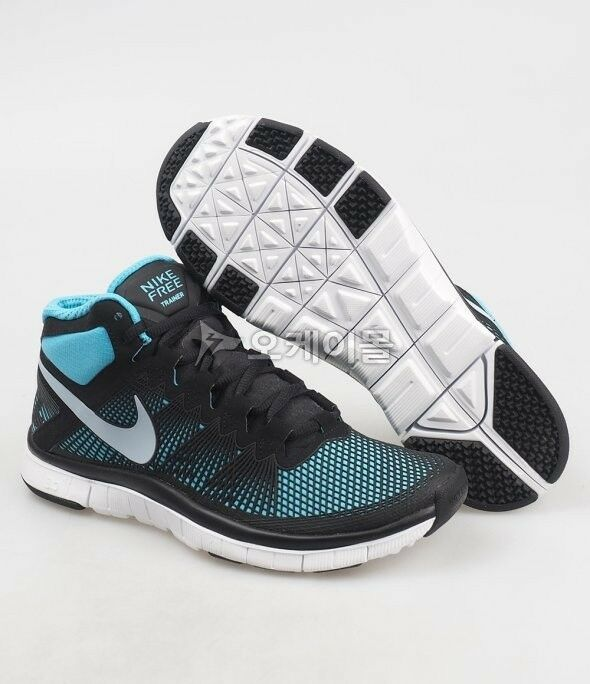 MENS Nike Free Trainer 3.0 Mid Black LT Armory Gamma Blue 615994-004 Size 8.5 US