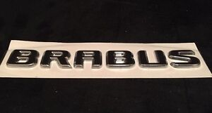 "BRAND NEW ORIGINAL BRABUS TRUNK LOGO BADGE EMBLEM IN ""Black""Made By Brabus"