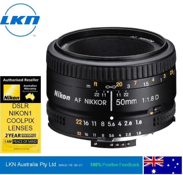 Nikon AF 50mm f1.8D Prime Lens - 2 Year Nikon Australia Warranty