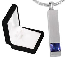 Funeral Memorial Cremation Ashes Jewellery mini keepsake urn Blue Stone Pendant