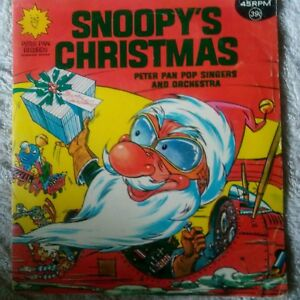 Snoopys Christmas.Details About Snoopys Christmas Peter Pan Pop Singers And Orchestra 45 Rpm Record