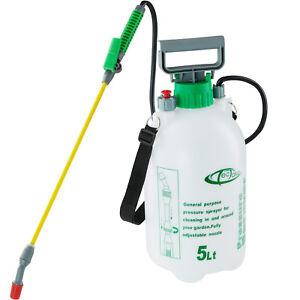 Drucksprueher-Druckspruehgeraet-Pumpsprueher-Pflanzensprueher-Gartenspritze-5-Liter