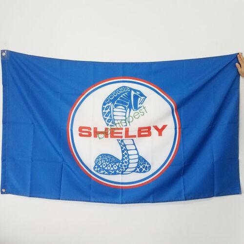 Bannière Drapeau Pour Shelby racing Flag 3x5 FT Mur Bannière Shop Show decor bleu