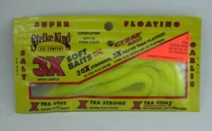 """Strike King 3XFLOAT7-83 3X 7"""" Trick Floating Worm Color Hot Chartreuse 5CT 24155"""
