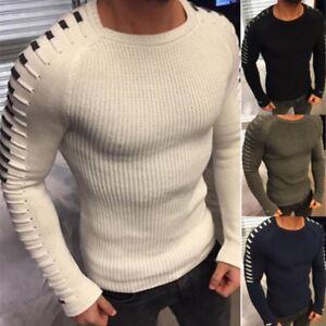 Men/'s V Casual Long Sleeve Sweater Jumper Knit Shirt Tops Pullover Blouse Primer