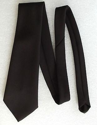 1960s charcoal brown kipper tie by JOHN COLLIER Very wide Smart vintage item
