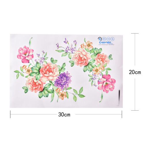 Peony Flowers Luxury Wall Stickers Art Home Decor PVC Removable Vinyl Decal CYN