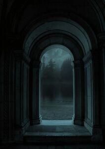 "perfect 24x36 oil painting handpainted on canvas ""Dark corridor ""@N7466"
