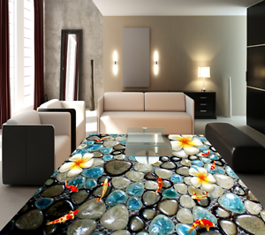 3D Stones And Fishes 401 Floor WallPaper Murals Wall Print Decal AJ WALLPAPER CA