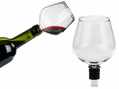 Wein Glas Flaschenaufsatz Mit Silikondichtung Weinflaschen Flaschenverschluss Tassen & Untertassen