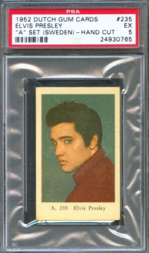 "1952 Dutch Gum Card ""A"" Set #235 ELVIS PRESLEY Portrait Close-Up PSA 5 Rare!!"