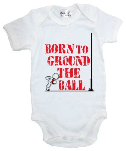"Dirty Fingers /""Born to Ground the Ball/"" Bodysuit Baby Rugby Supporter Gift"