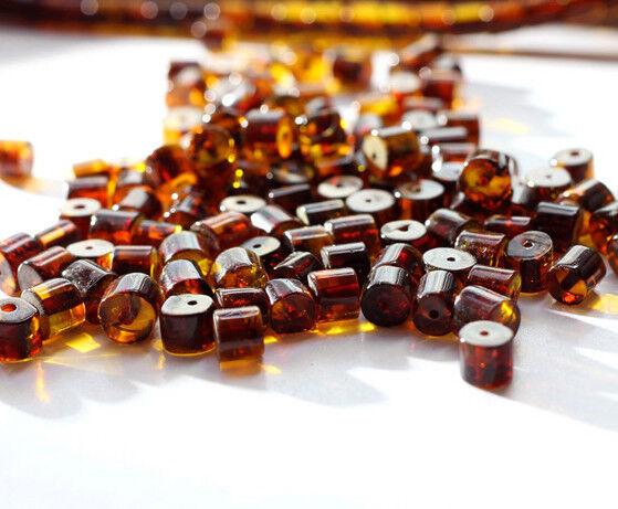 Raw Baltic Amber Beads Natural Loose BQ 6.5-8 mm Beads 25 Pcs Lemon