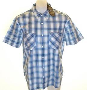 Autentico-Con-Etiqueta-Hombre-Wrangler-Camisa-manga-corta-Grande-Ajuste-Casual