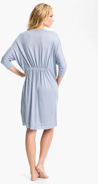 NEW women Karen Modal Dolman Sleep Shirt 503358 Pearl bluee Medium Retail  165