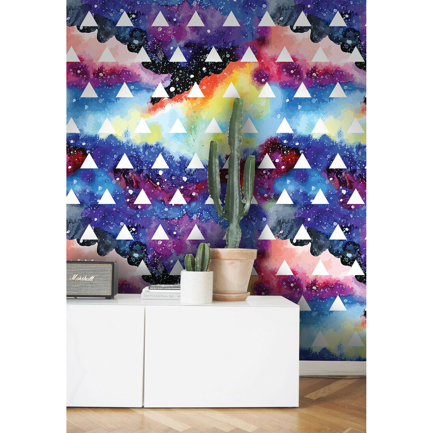 Galaxy Removable wallpaper Farbeful Blau and Gelb wall mural vlies
