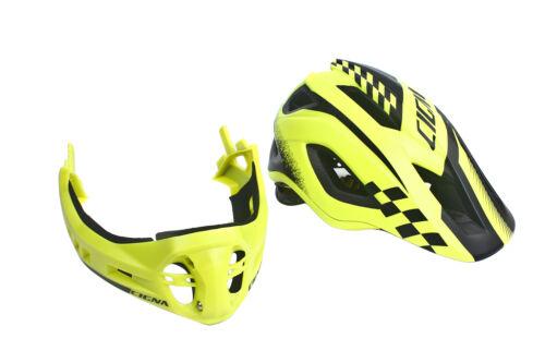 CIGNA Kids Bicycle Bike Convertible Helmet Yellow S-size w//Black protective pads