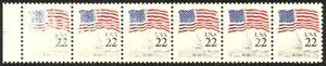 2114-22c-Flag-Inking-Variety-NH-Strip-of-6