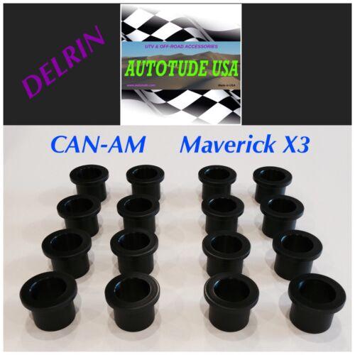 2017 Front CAN-AM MAVERICK X3 A-Arm Suspension DELRIN Bushings Set SUPERIOR!