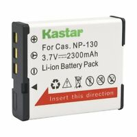 1x Kastar Battery For Casio Np-130 Exilim Ex-zs1500 Ex-zr5000