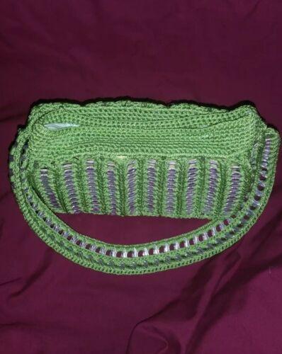 Handgefertigt Soda Recycelt Hkeln Handbag top top Crochet Pop Pop 'green Recycled Handmade Chic' Sie handtasche Shimmery 4nq4wxYrU5