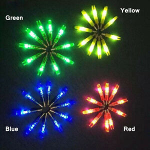 5 Pcs Luminous Lighted Arrow Nock Tail Hunting Accessories for 6.2mm Shaft