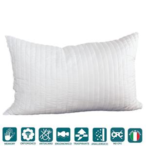 Cuscino Guanciale Memory Foam Saponetta tessuto Ciniglia di Cotone ...