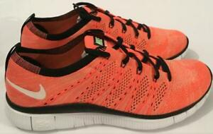 NIKE-FREE-FLYKNIT-NSW-TRAINERS-HOT-LAVA-BRAND-NEW-MEN-039-S-SIZES-UK-6-TO-UK-8