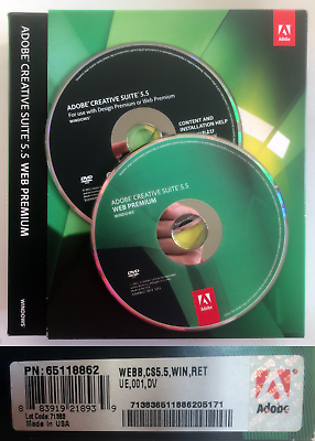 Adobe Creative Suite 5 5 Web Design Premium Windows Francais Serial Number Ebay