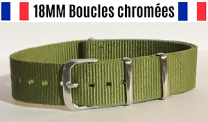 18MM-Bracelet-Montre-Watch-Band-Strap-Nylon-Nato-Otan-Militaire-Army-Bond
