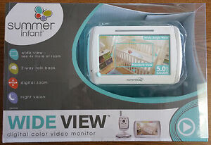 summer infant wide view digital color video monitor set 29000b new ebay. Black Bedroom Furniture Sets. Home Design Ideas