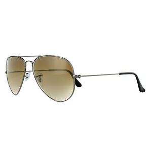 Ray-Ban-Aviator-3025-004-51-Gunmetal-Marron-Pequena-55mm
