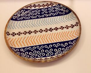 wooden-round-serving-tray-handpainted-tray-wooden-serving-dish-dinnerware-plate