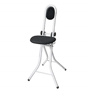 WENKO Standing aid-with Back Cushion, Steel, White, 45 x 47 x 91.5 cm