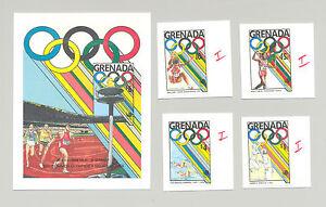 Greanda-1685-1687-1689-1692-1694-olympiques-de-Seoul-4-V-amp-1-V-S-S-Imperf-Proofs