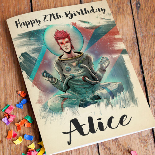 David Bowie Personnalisé De Carte D/'anniversaire Et Rapide Livraison gratuiteTout Nom
