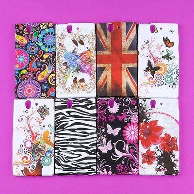 Lot Skin Case Rubberized Cover For Sony Ericsson Xperia L36h Yuga C660X C6603