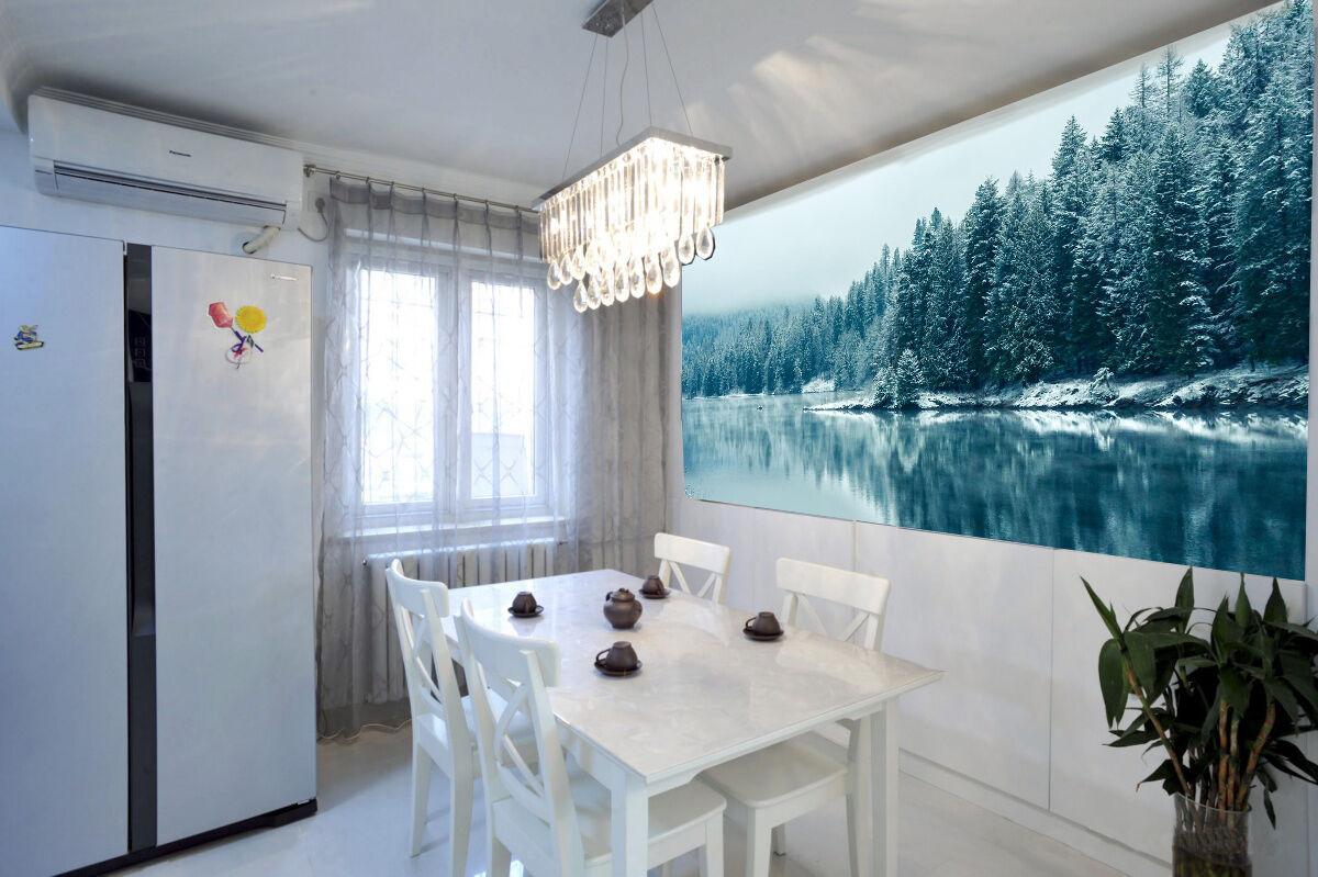 3D White Snow Tree River 894 Wall Paper Wall Print Decal Wall AJ WALLPAPER CA