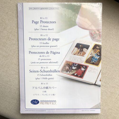 Creative Memories protectores de página de Scrapbook 8.5x11 Transparente NUEVO