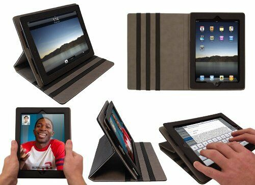 EXECUTIVE LUXURY LUXFOLIO LEATHER STAND CASE FOR iPAD 2 3 4 SLEEP SENSOR