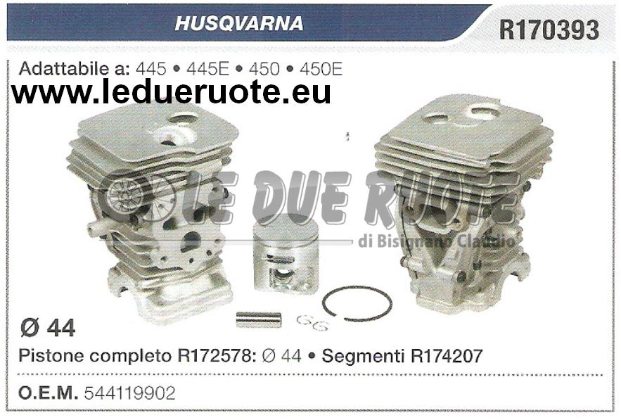 544119902 Kit Zylinder und Kolben Husqvarna 445 445E 450 450E Kettensäge Ø 44