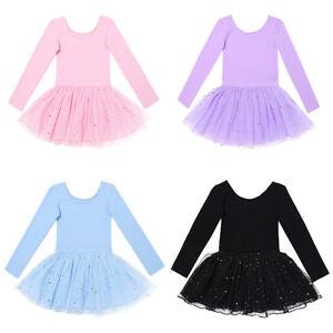 Girls-Gymnastics-Ballet-Dance-Dress-Toddler-Kids-Leotard-Tutu-Dancewear-Costume
