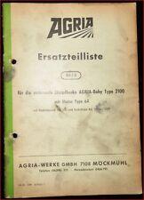 Agria rotierende Einradhacke 2100 Ersatzteilliste